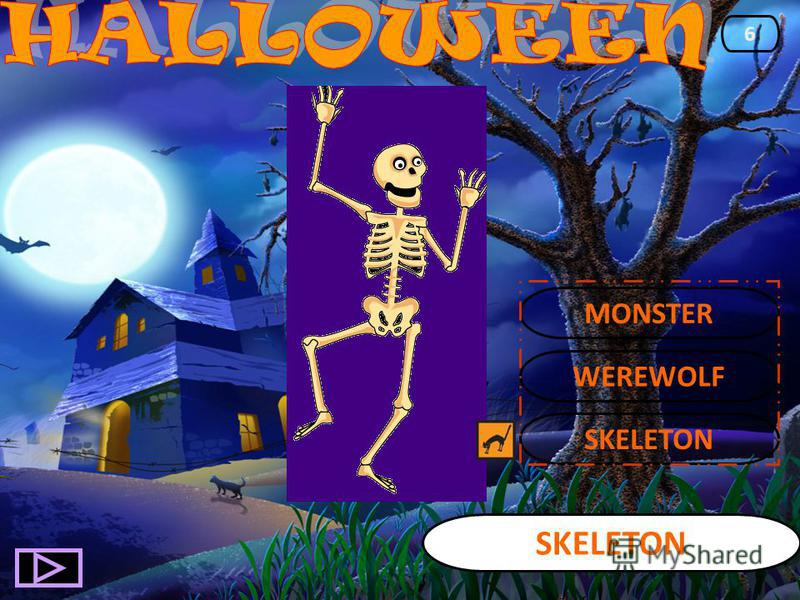 SKELETON 6 WEREWOLF MONSTER
