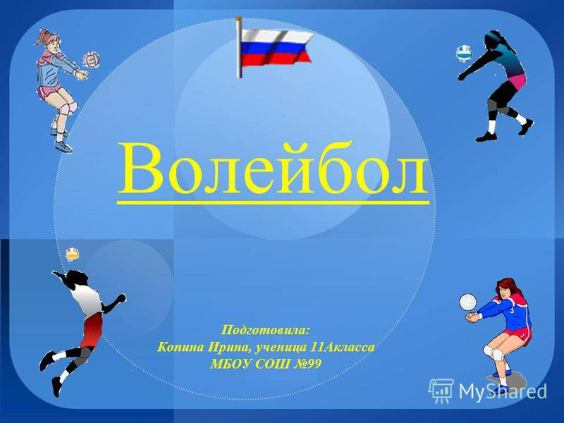 Волейбол Подготовила: Копина Ирина, ученица 11Акласса МБОУ СОШ 99
