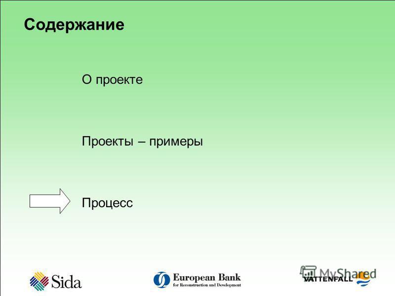 Содержание О проектте Проекты – примеры Процесс