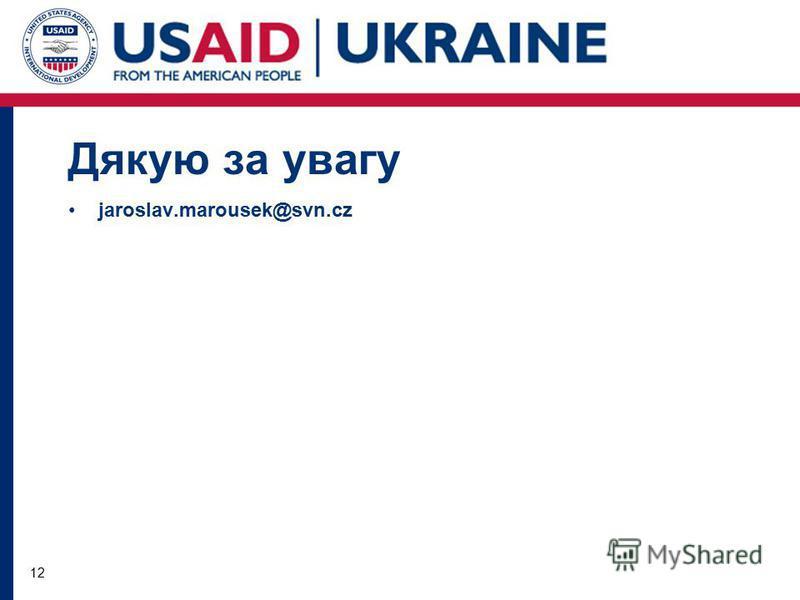 12 Дякую за увагу jaroslav.marousek@svn.cz