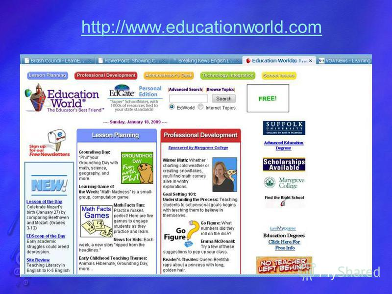 http://www.educationworld.com