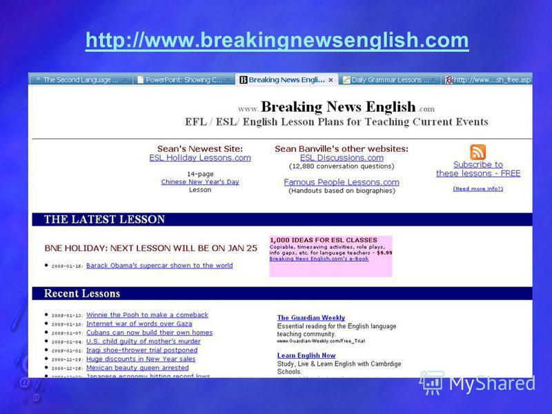 http://www.breakingnewsenglish.com