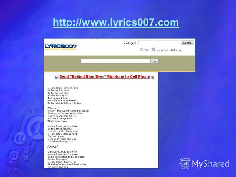 http://www.lyrics007.com