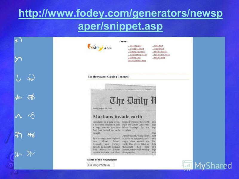 http://www.fodey.com/generators/newsp aper/snippet.asp