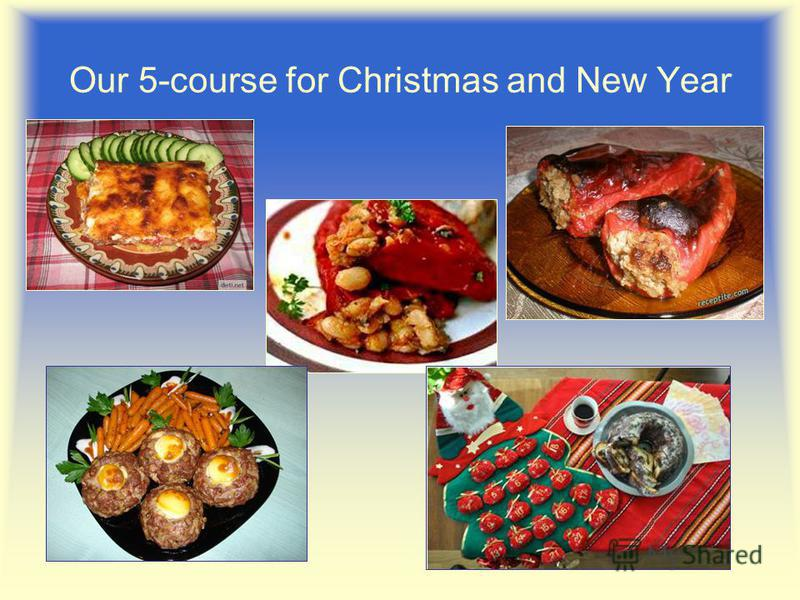 Our 5-course for Christmas and New Year