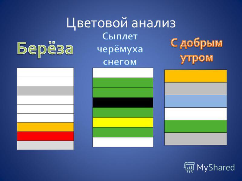 Цветовой анализ
