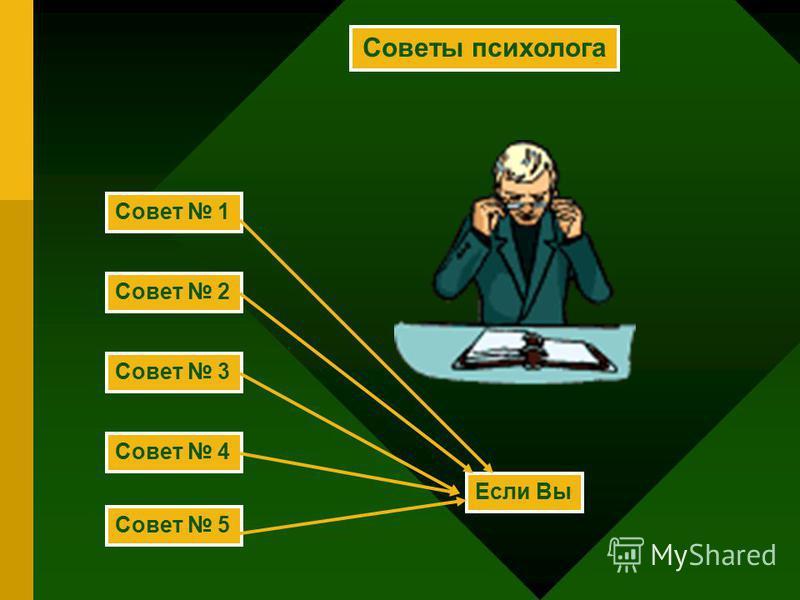 Советы психолога Совет 1 Совет 2 Совет 3 Совет 4 Совет 5 Если Вы