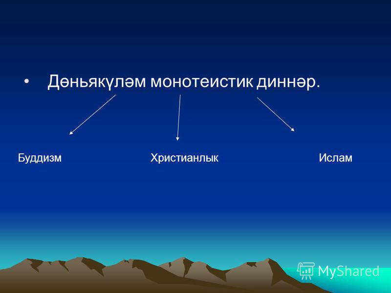 Архаик политеистик диннәр Тотемизм Фетишизм Анимизм