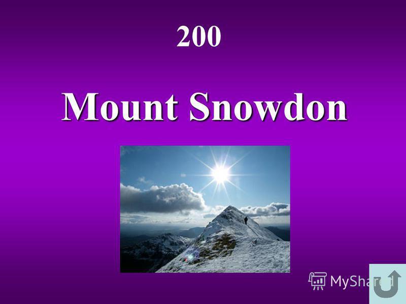 Mount Snowdon 200