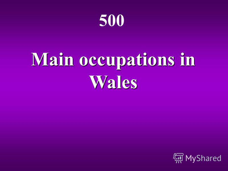Main occupations in Wales 500
