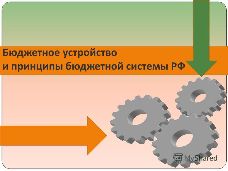 Бюджетное устройство и принципы бюджетной системы РФ