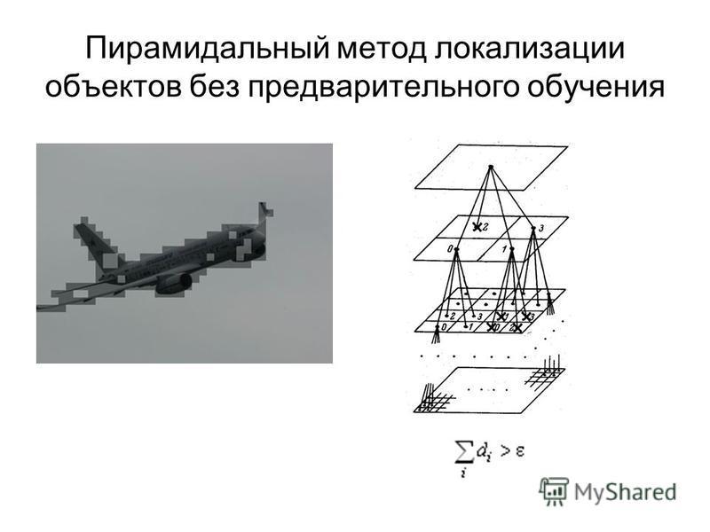 Пирамидальный метод локализации объектов без предварительного обучения