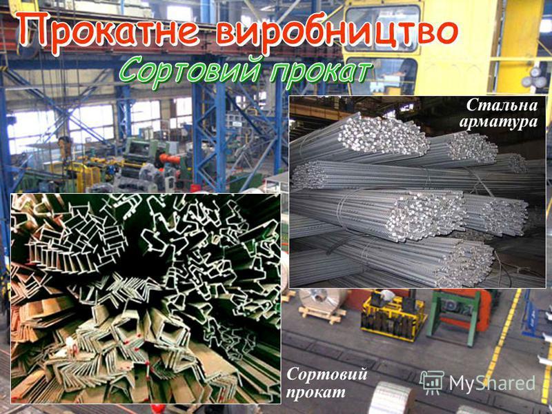 Стальна арматура Сортовий прокат