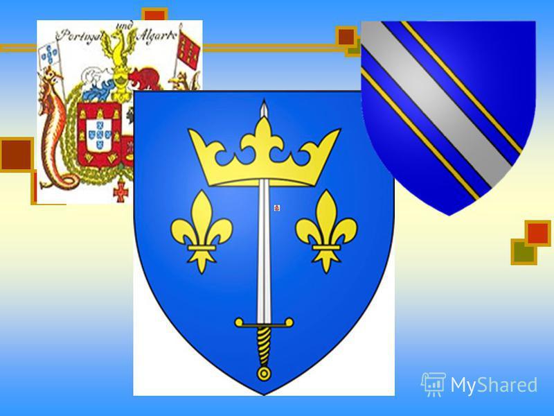 Составные части герба : корона нашлемник шлем щит щеткодержатели мантия девиз