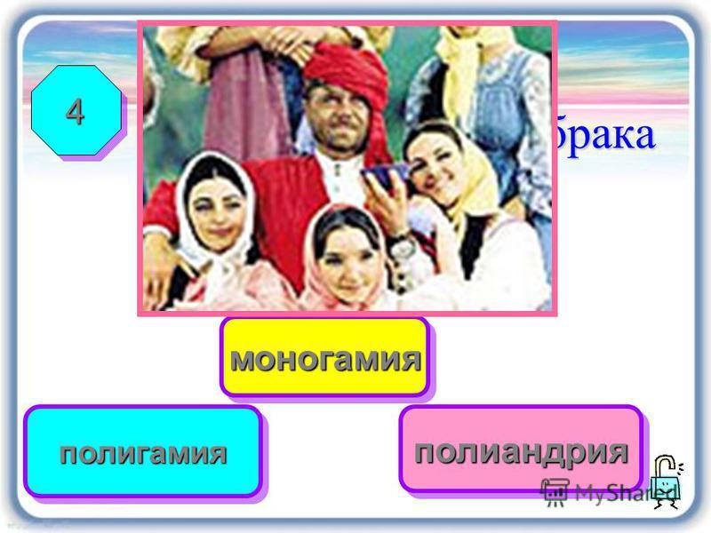 Неверно Верно Правильно Брак и семья Определите форму брака 44 полигамияполигамия моногамиямоногамия полиандрияполиандрия