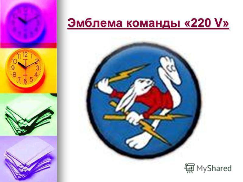 Эмблема команды «220 V»