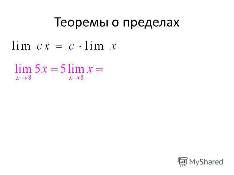 Теоремы о пределах
