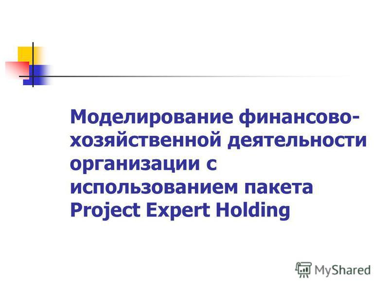 Моделирование финансово- хозяйственной деятельности организации с использованием пакета Project Expert Holding