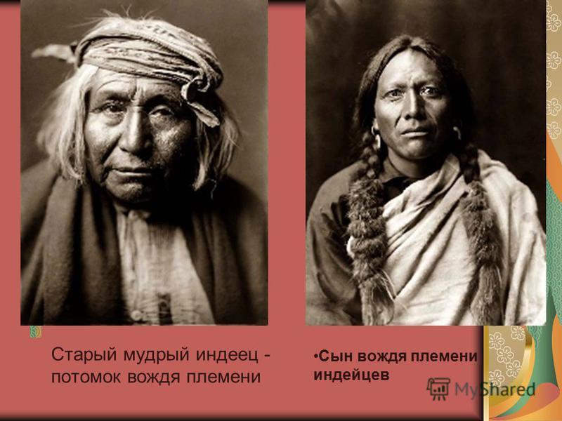 Старый мудрый индеец - потомок вождя племени Сын вождя племени индейцев