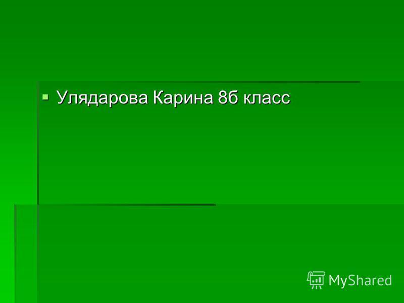 Улядарова Карина 8 б класс Улядарова Карина 8 б класс