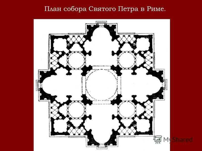 План собора Святого Петра в Риме.