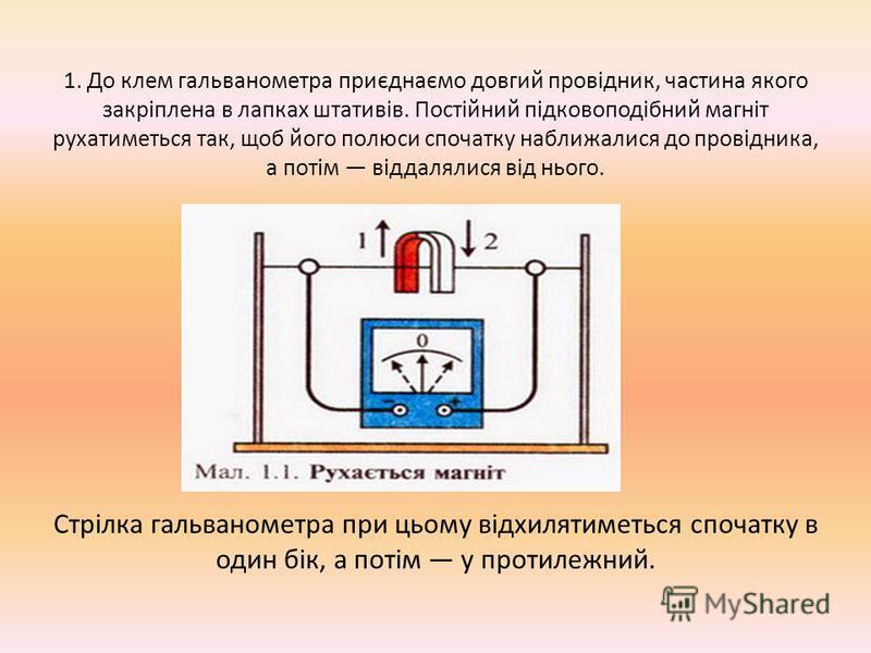 Після відкритття у 1820 р. датським фізиком X. Ерстедом звязку магнітного поля з електричним струмом М. Фарадей записав у своєму науковому щоденнику програму досліджень коротким реченням: «Перетворити магнетизм на електрику». Після тривалих наукових