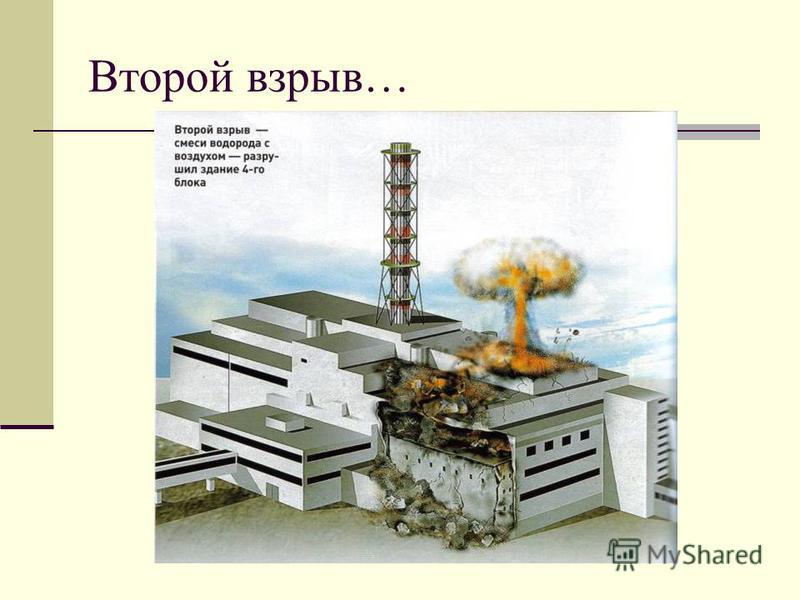 Второй взрыв…