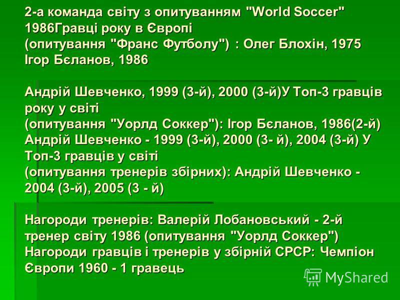 2-а команда світу з опитуванням