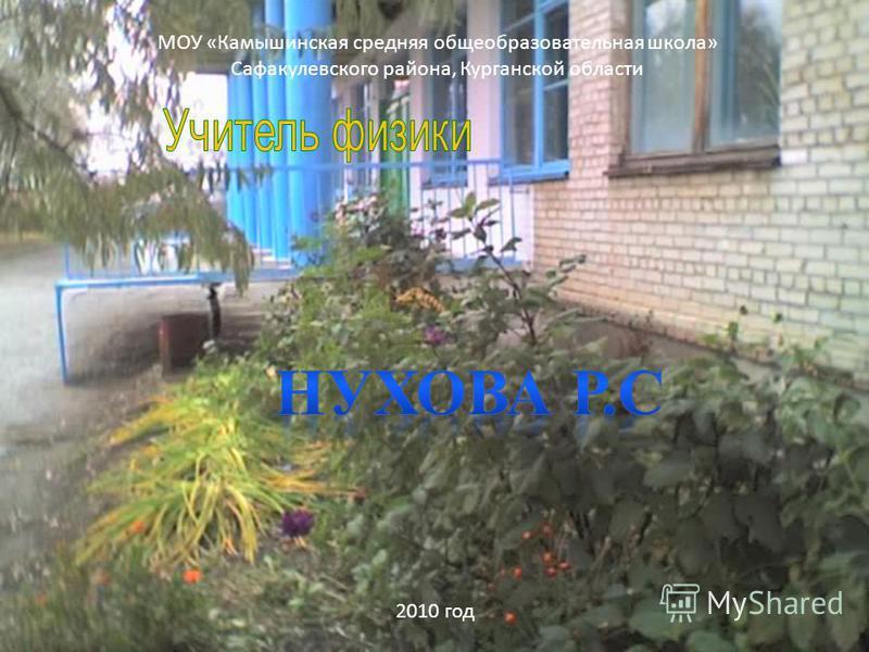 МОУ «Камышинская средняя общеобразовательная школа» Сафакулевского района, Курганской области 2010 год
