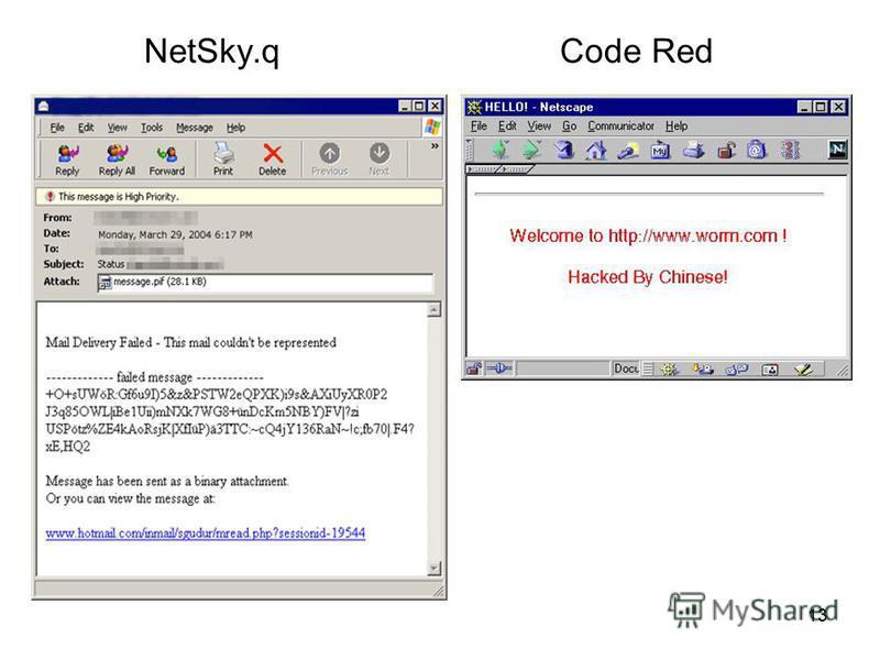 13 NetSky.qCode Red