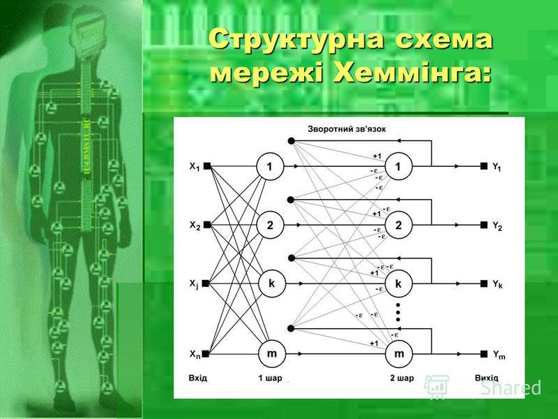 Структурна схема мережі Хеммінга: