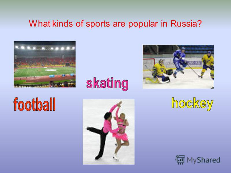 What kinds of sports are popular in Russia?