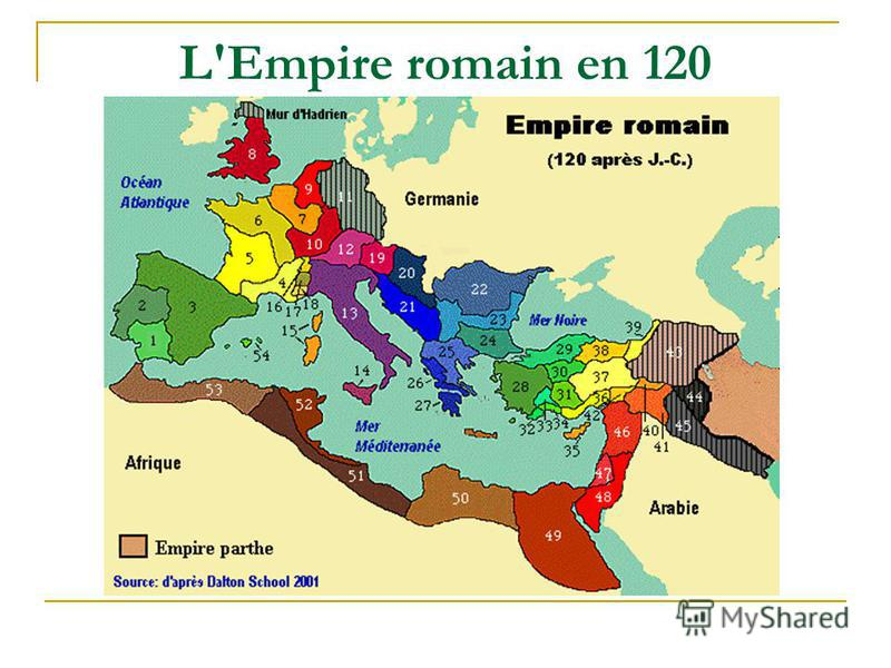 L'Empire romain en 120