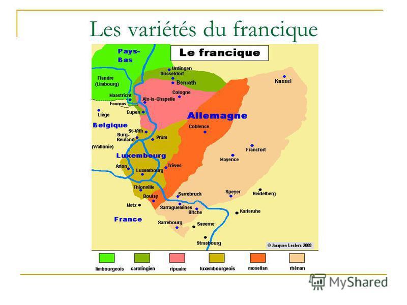 Les variétés du francique