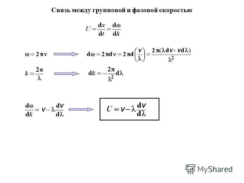 Связь между групповой и фазовой скоростью