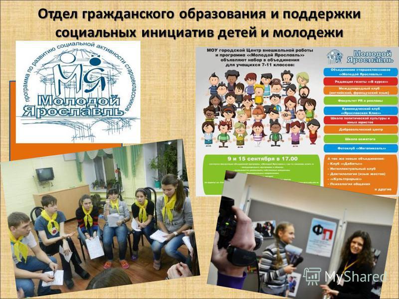 Отдел гражданского образования и поддержки социальных инициатив детей и молодежи Организационно- массовый отдел