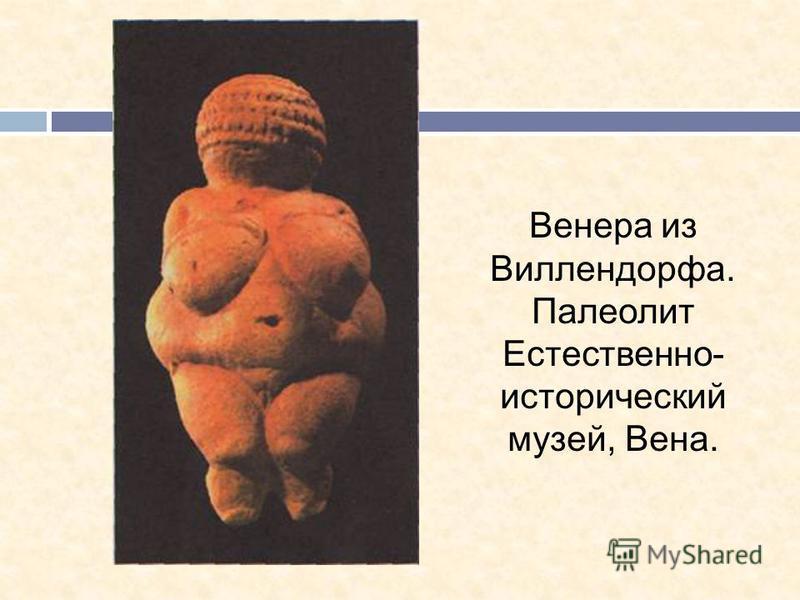 Венера из Виллендорфа. Палеолит Естественно- исторический музей, Вена.