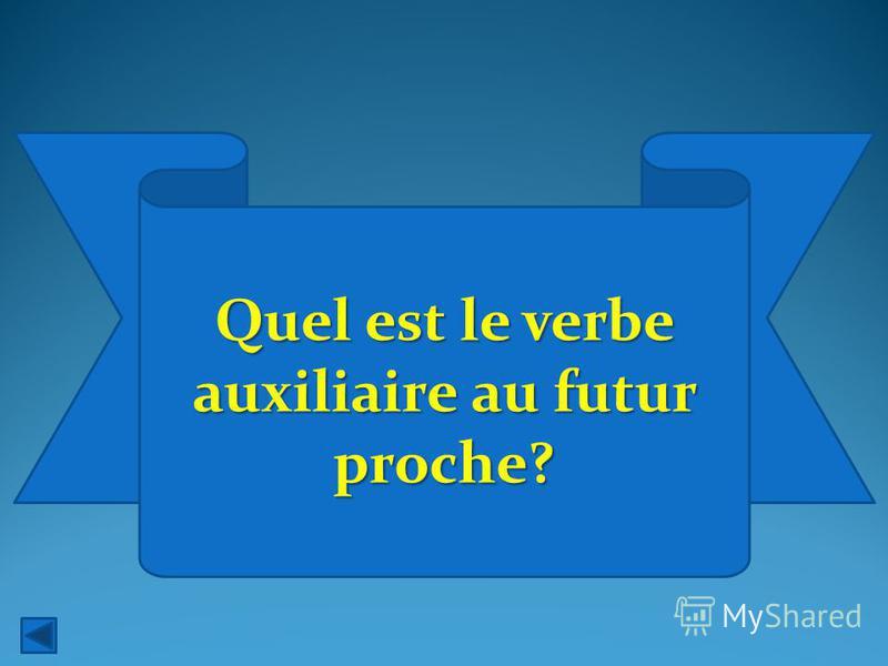 Quel est le verbe auxiliaire au futur proche?