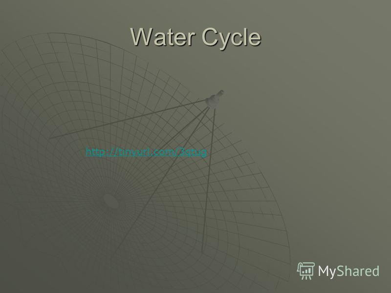 Water Cycle http://tinyurl.com/3qtug