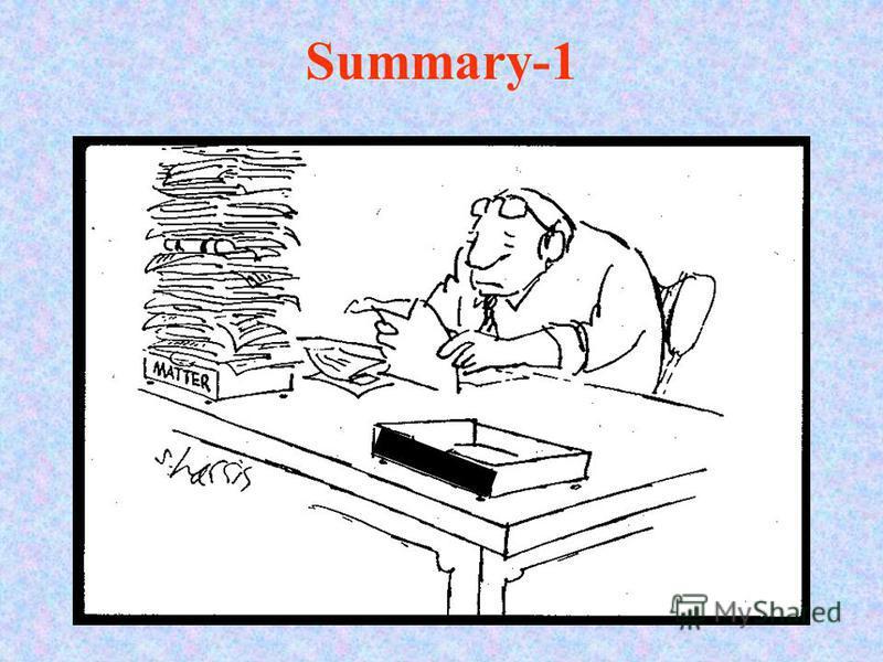 Summary-1 Dark matter