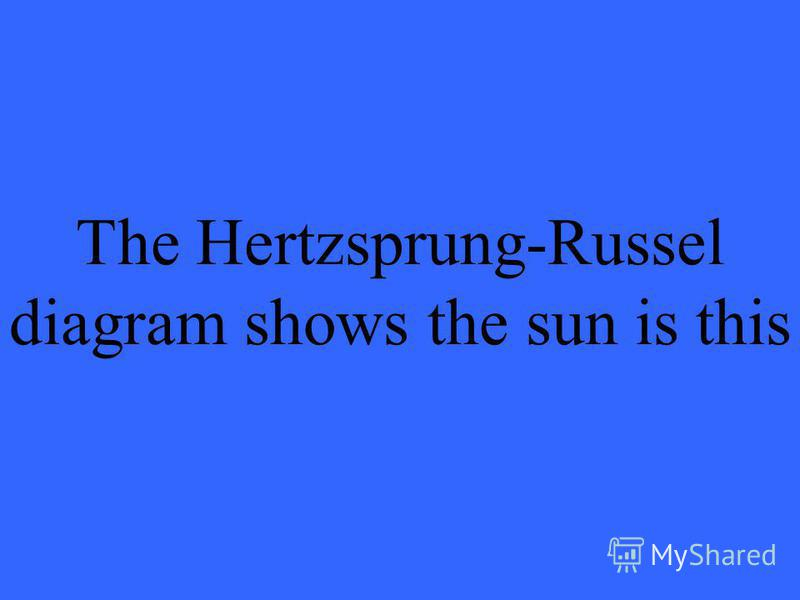 The Hertzsprung-Russel diagram shows the sun is this
