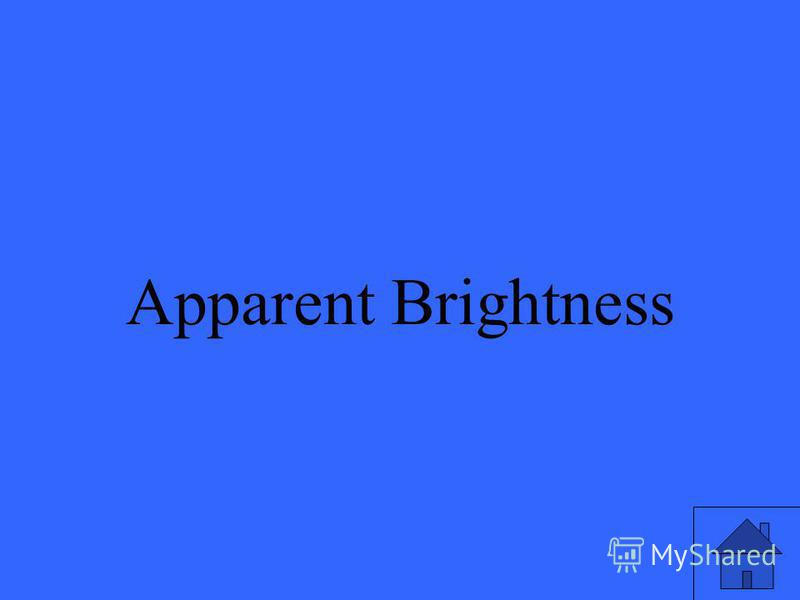 Apparent Brightness