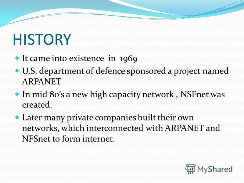 WHAT IS INTERNET ? It is a vast international network that is the most preferred WAN of the world. It is a network, made by joining computer networks togther with telephone lines.