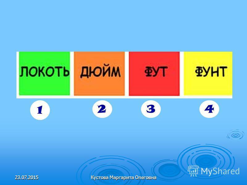 1 234 23.07.2015Кустова Маргарита Олеговна