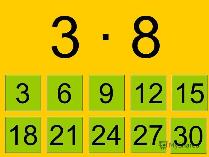 3 · 3 3 6 91215 21242718 30