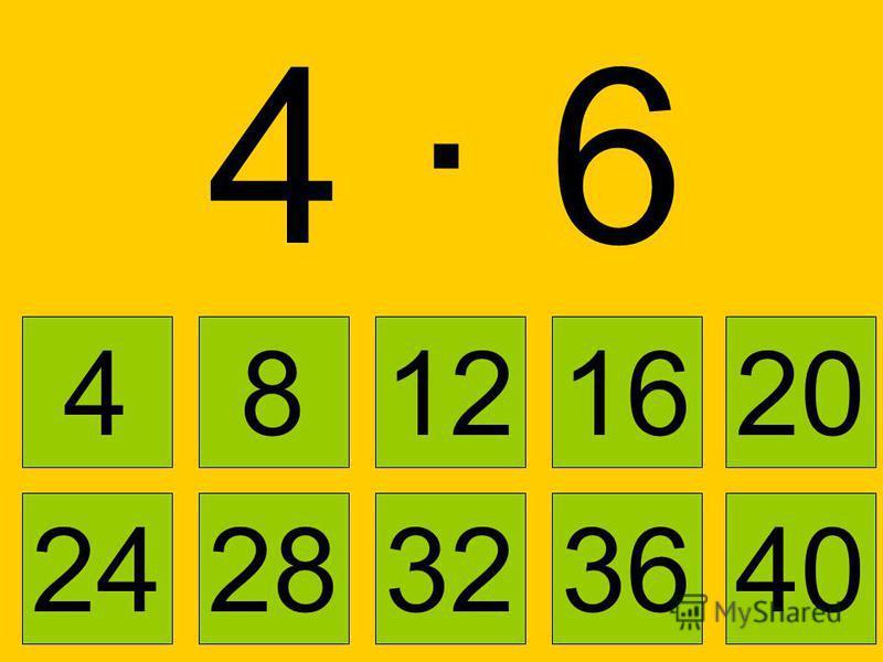 4 · 24 · 2 4 8121620 2832362440