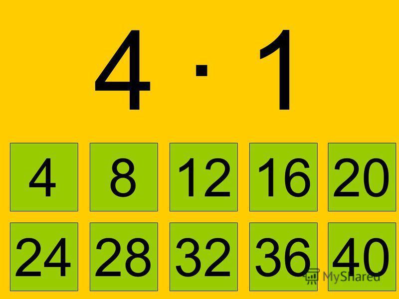 4 · 44 · 4 4 8121620 2832362440