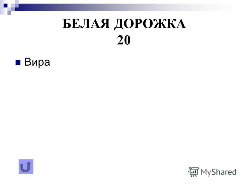БЕЛАЯ ДОРОЖКА 20 Вира