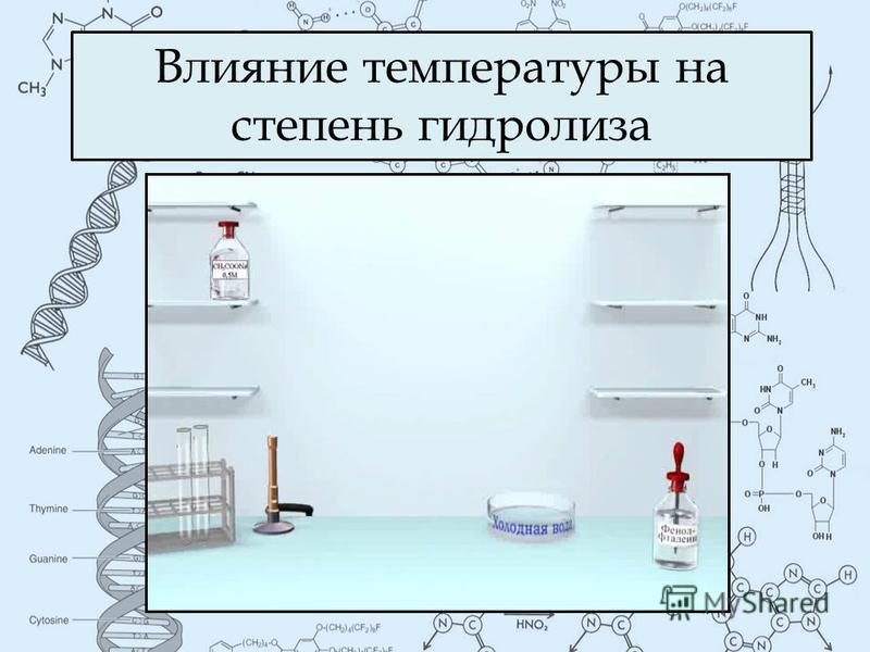 Влияние температуры на степень гидролиза
