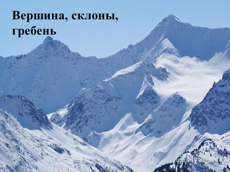 Вершина, склоны, гребень